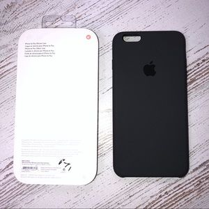 NWT Apple iPhone 6s Plus Silicone Case Charcoal